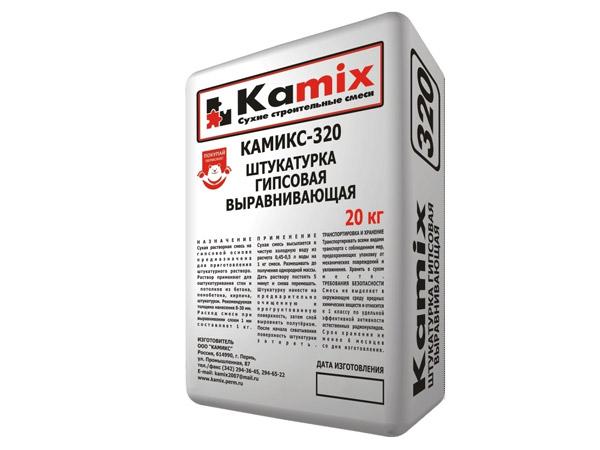Штукатурка гипсовая выравнивающая КАМИКС-320